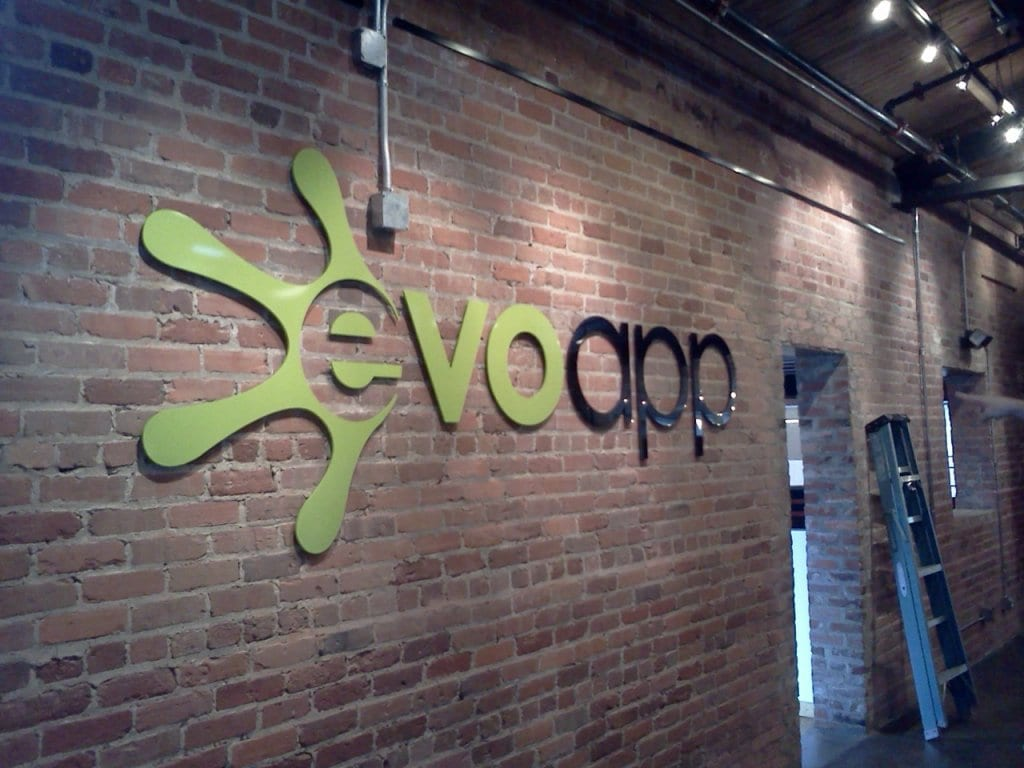 Evoapp sign - Electric Signs in Durham, NC