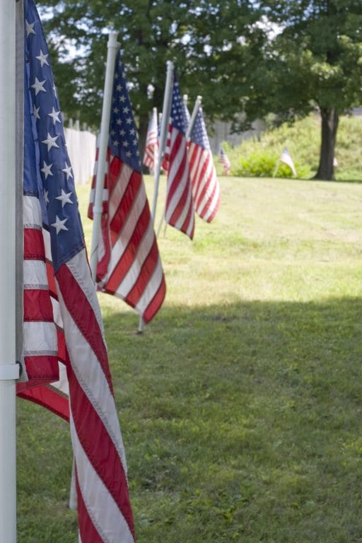 Amrican flags for Memorial Day - Memorial Day